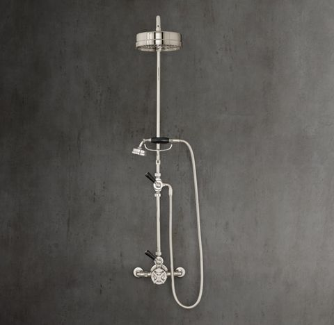 1930 Mackintosh Godolphin Dual-Control Exposed Thermostatic Mixing Valve with Showerhead & Handheld Shower