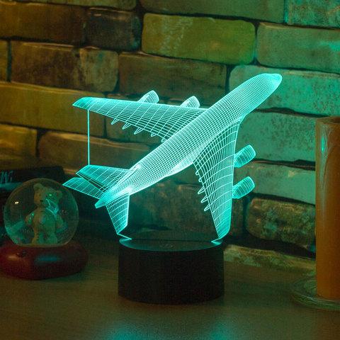 3D ночник Авиалайнер