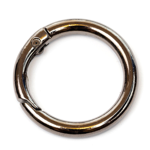 """Карабин-кольцо 31мм """"Тёмный никель"""""""