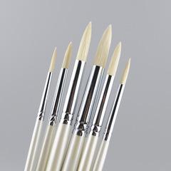 Кисти X.D.T щетина круглая, длинная ручка, набор 6 шт.