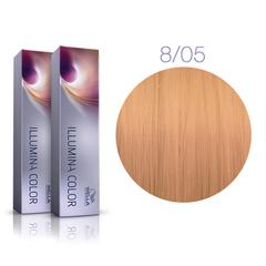 Wella Professional Illumina Color 8/05 (Светлый блонд натуральный махагоновый) - Стойкая крем-краска для волос