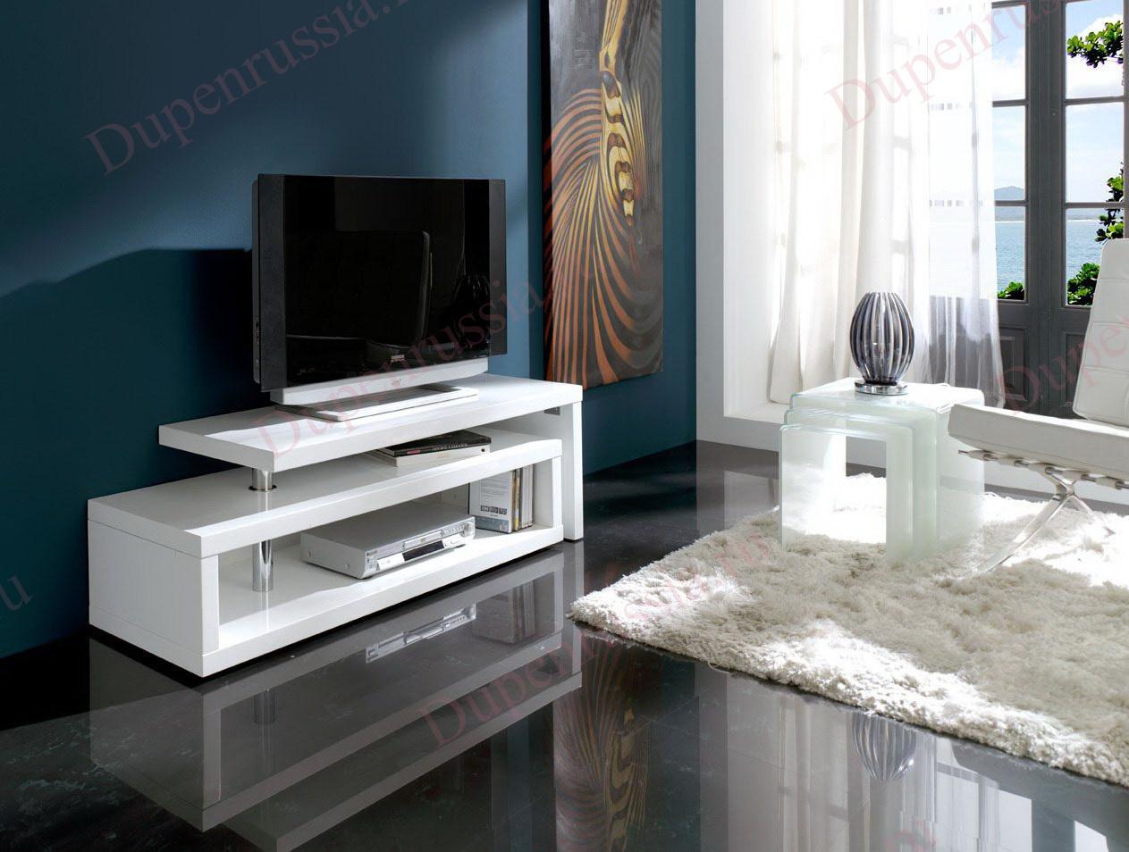 Тумба TV 600 DUPEN белая