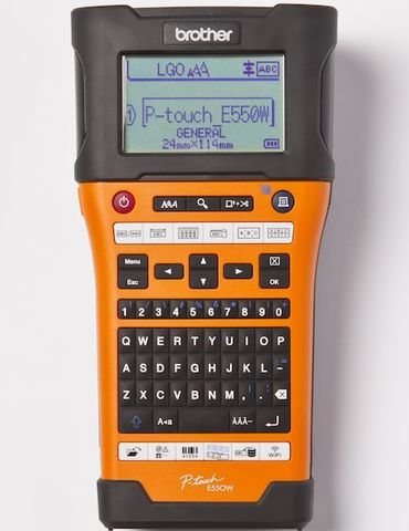 Промышленный принтер для маркировки Brother PT-E550WVP - (ленты TZE до 24мм, до 30мм/сек, 180x360т/д, WiFi, кейс+БП, ленты HSe - PTE550WVPR1)