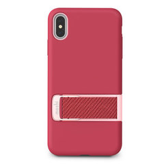Чехол с ремешком Moshi MultiStrap для iPhone XS Max, малиновый розовый