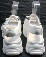 Модные сандали на платформе Small Swan PM23-3 White.