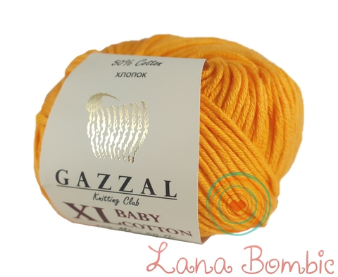 Пряжа Gazzal Baby Cotton XL папайя 3416