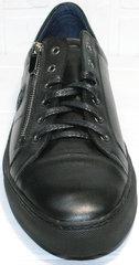 Мужские кеды из натуральной кожи Ікос 1528-1 Black