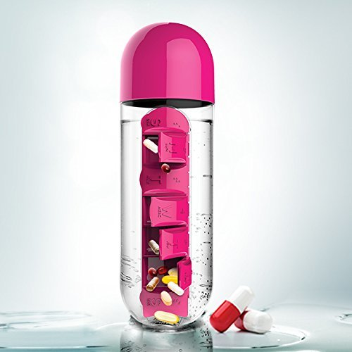 Бутылка органайзер Asobu In style (0,6 литра), розовая