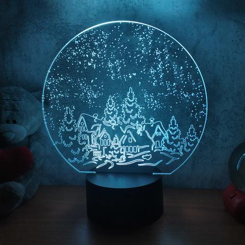 3D ночник Зимняя ночь