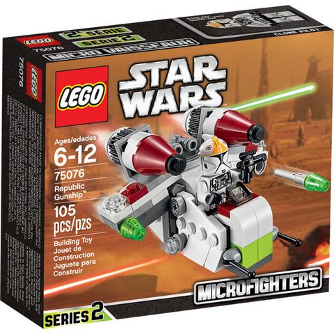 LEGO Star Wars: Республиканский истребитель 75076 — Republic Gunship Microfighter — Лего Звездные войны Стар Ворз