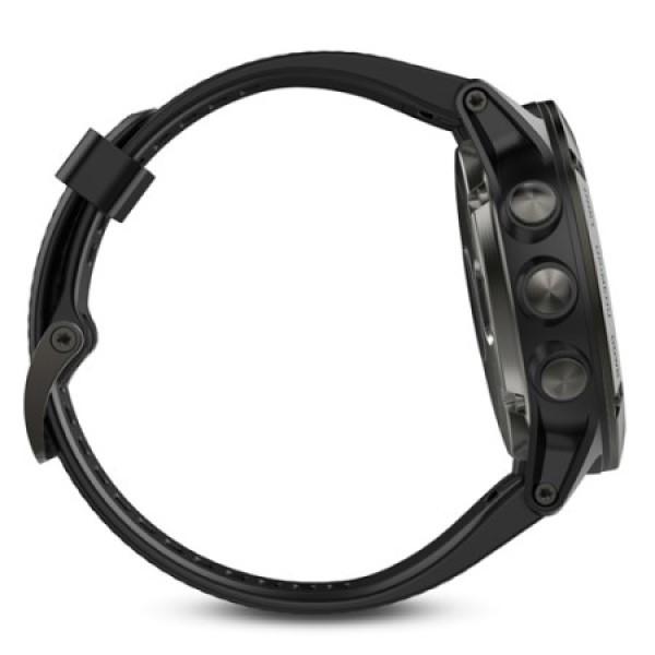 Fenix 5X Sapphire серые с черным ремешком