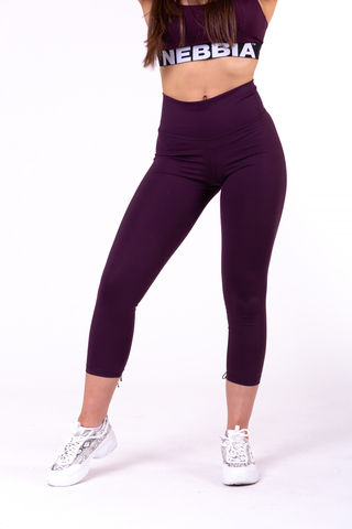 Женские лосины Nebbia lace-up 7/8 leggings 661 burgundy