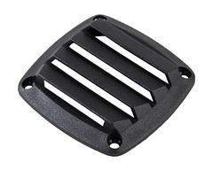 Крышка вентиляции пластмассовая 86х86х15 мм, черная