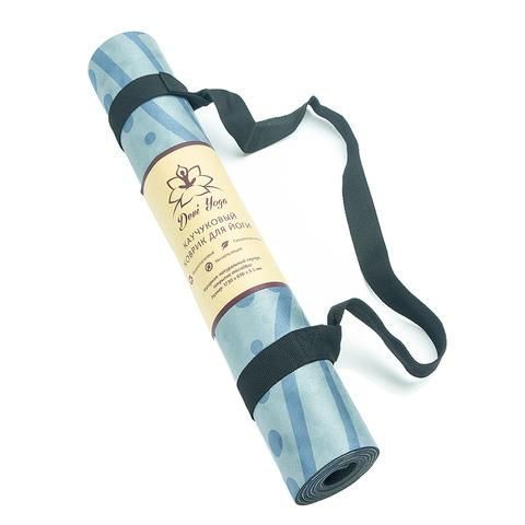 Коврик для йоги Тотем 183*61*1-3,5мм из микрофибры и каучука