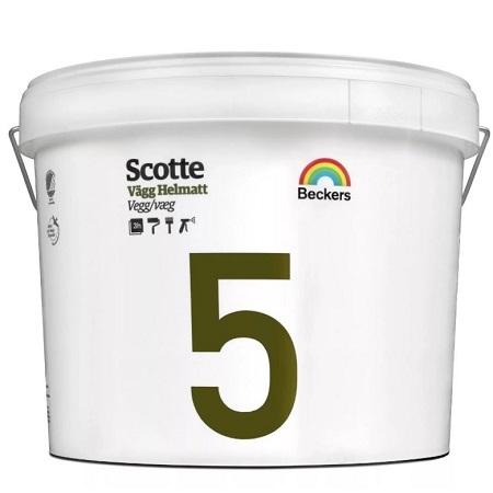Краска для стен и потолков Beckers Scotte 5 / Беккерс Скотти матовая