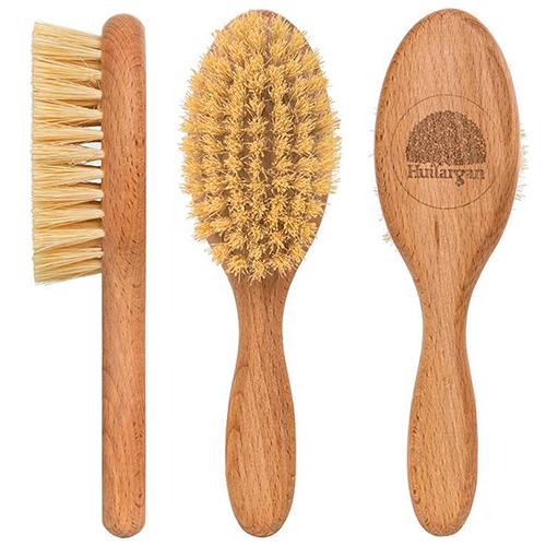 Деревянная щетка для волос с щетиной из кактуса тампико, Huilargan