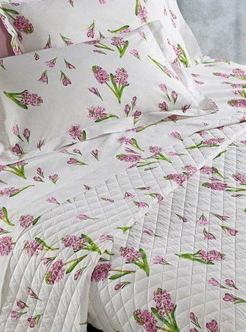 Постельное белье 2 спальное евро Mirabello Primi Fiori фиолетовое