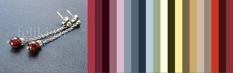 серьги с гранатом с чем сочетаются - цветовая палитра для одежды