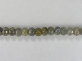 Бусина из лабрадора (спектролита), фигурная, 4x6 мм (рондель, граненая)