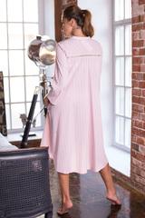 Платье домашнее из хлопка на пуговицах