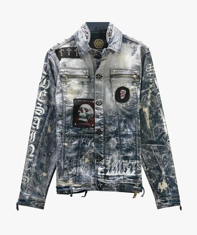 Куртка джинсовая The Saints Sinphony HAND DRAWN GRAFFITI CONCERT JACKET