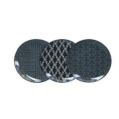 Набор тарелок 3 шт Tokyo Design Studio Nippon Black 14284