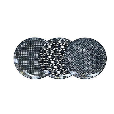 Тарелки Набор тарелок 3 шт Tokyo Design Studio Nippon Black 14284 nabor-tarelok-3-sht-tokyo-design-studio-nippon-black-14284-yaponiya-niderlandy.jpg