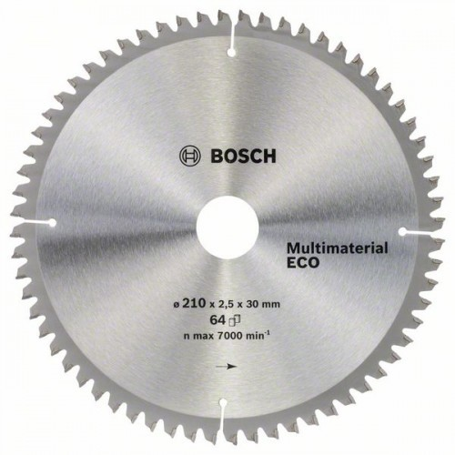 Диск Bosch 210х2,5х30 мм MultiMaterial ECO Z64
