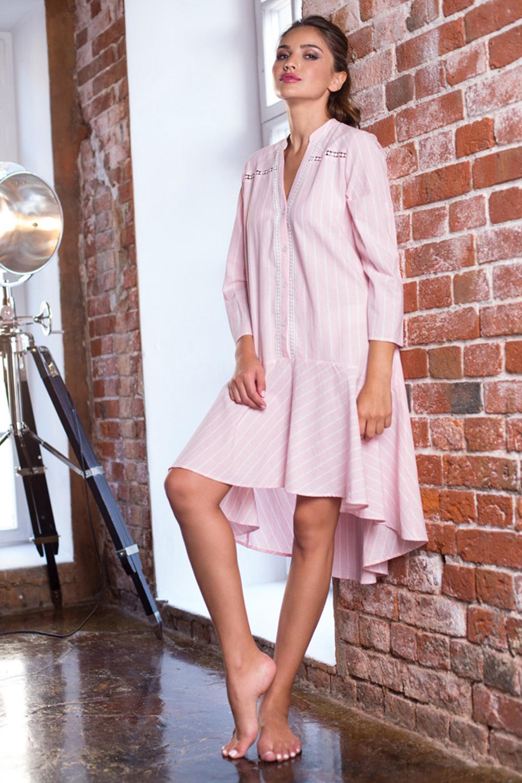 Платье домашнее из хлопка на пуговицах (Ночные сорочки)