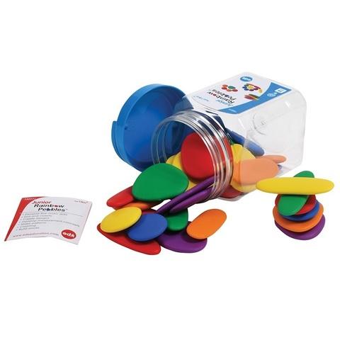 Игровой набор Junior Радужные камешки, контейнер, Edx education, арт. 13227J
