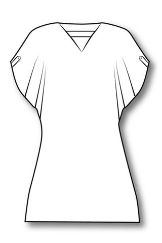 Выкройка блузы со спущенной проймой