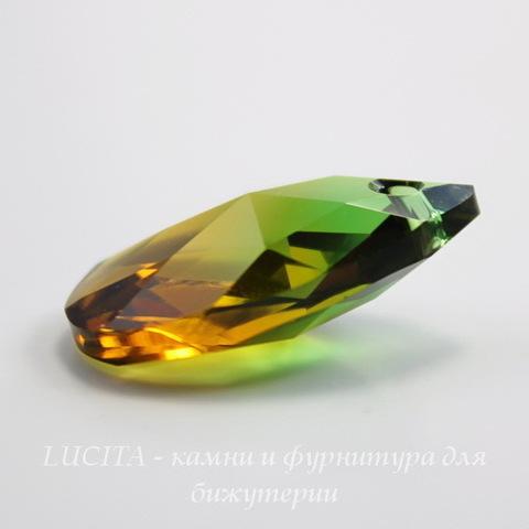 6106 Подвеска Сваровски Капля Fern Green/Topaz Blend (16 мм)