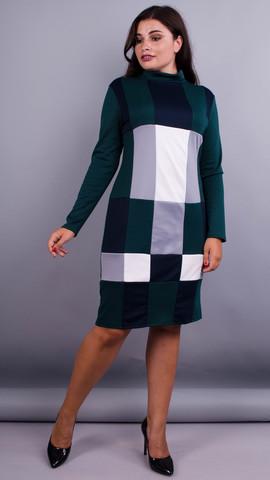 Дженни. Платья больших размеров. Зеленый.
