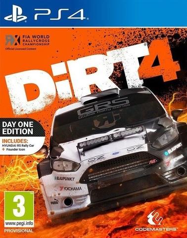 Sony PS4 DiRT 4. Издание первого дня (английская версия)