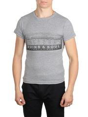 18666-1 футболка мужская, серая