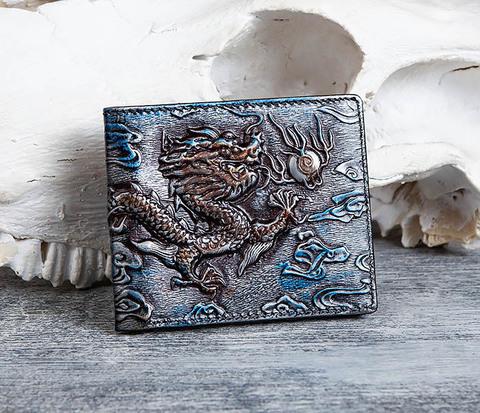 Крутой кошелек с объемным китайским драконом