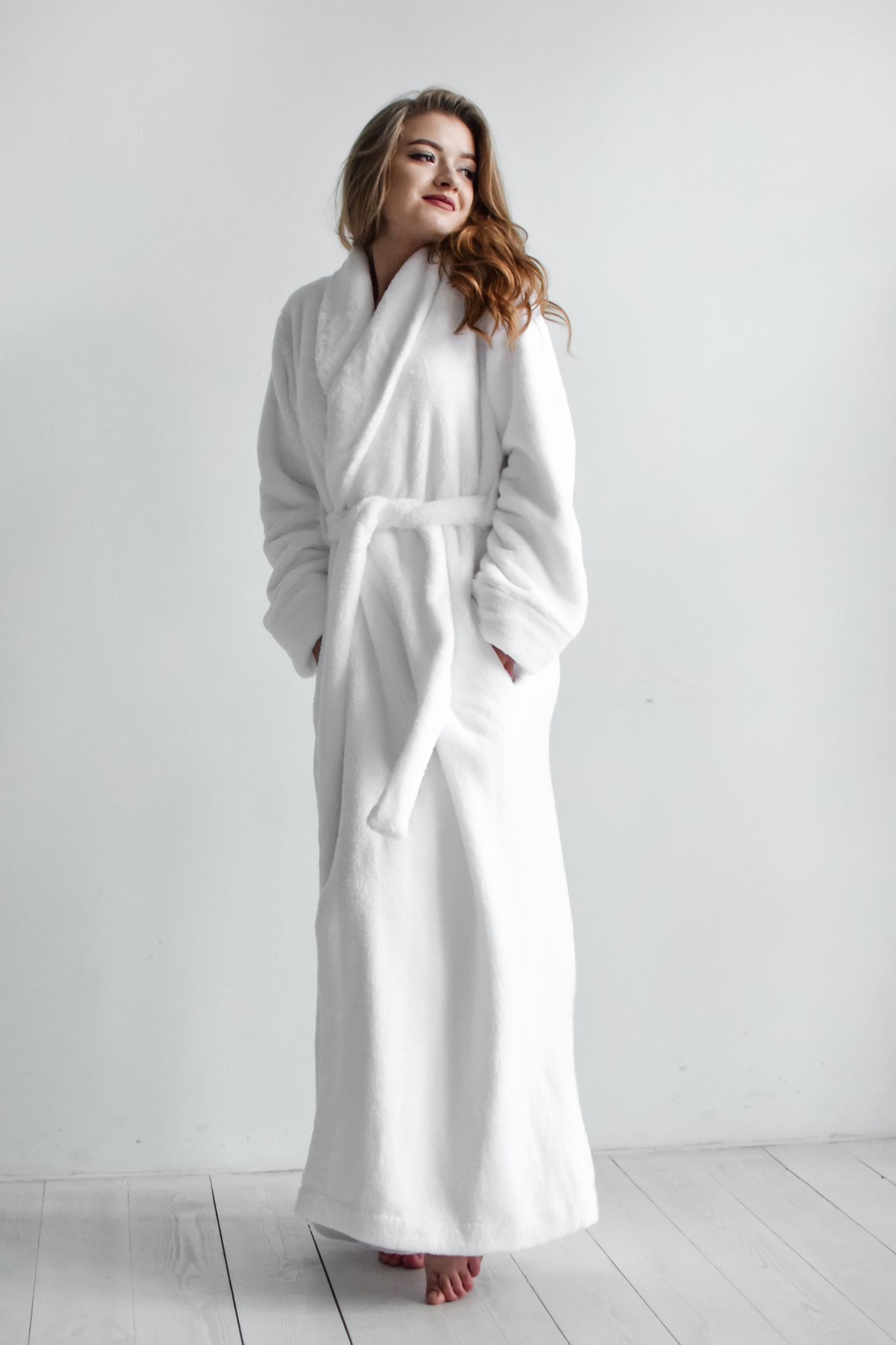 Халат White Long Spa Robe, XS/S