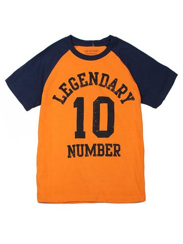 BKT000719 фуфайка детская, оранжево/синяя