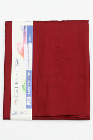 Простыня на резинке 180x200 Сaleffi Raso Tinta Unito с бордюром сатин бордовая