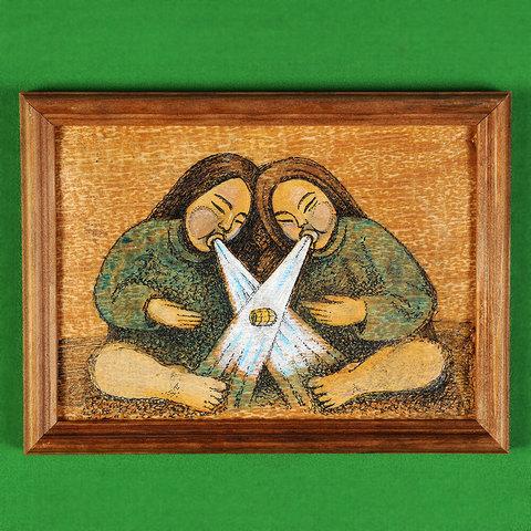 Картина на бересте Ветры Байкала
