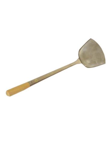 Лопатка для вока, Wolmex 2#, нержавеющая сталь, деревянная ручка