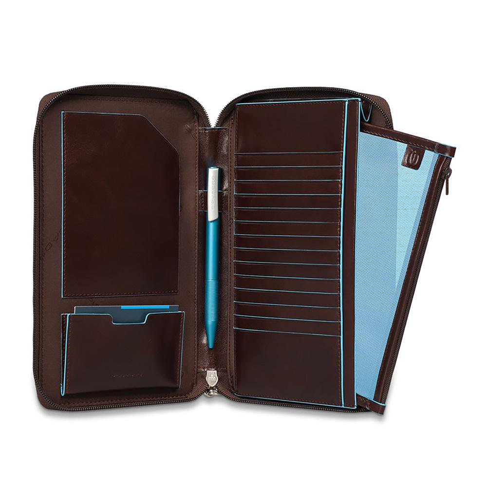 Мультипортмоне Piquadro Blue Square, цвет коричневый, 6x22,5x2,5 см (PP3246B2/MO)