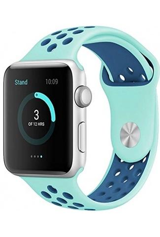 Ремешок Apple watch 42/44mm Sport Nike /mint blue/ мятный синий