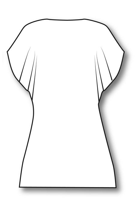 Выкройка блузы со спущенной проймой на заказ