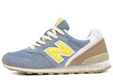Кроссовки Женские New Balance 996 Dim Blue Yellow