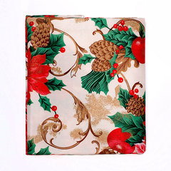 Скатерть круглая 178 Carnation Home Fashions Christmas Fabric Tablecloths Christmas Floral