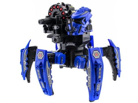Keye Toys Space Warrior. Радиоуправляемый боевой робот-паук (лазер, ракеты) 2.4GHz (синий и красный)) + АКК и ЗУ