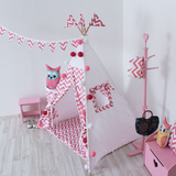 Вигвам Pink Zigzag Tipi (детский игровой домик, палатка)