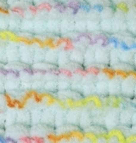 Пряжа Alize Puffy Color мята-радуга 5860