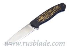 Cheburkov Custom Scout Damascus moku-ti inlays